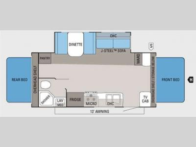 Floorplan - 2011 Jayco Jay Feather Select X21M
