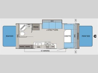 Floorplan - 2011 Jayco Jay Feather Select X23B