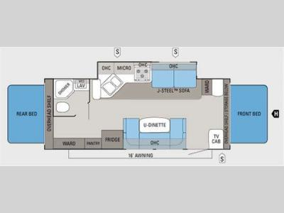Floorplan - 2011 Jayco Jay Feather Select X23J