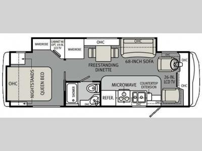 Floorplan - 2011 Holiday Rambler Vacationer 30SFS