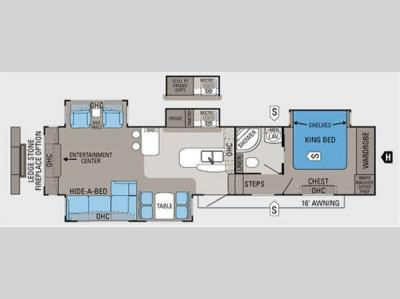Floorplan - 2011 Jayco Pinnacle 36REQS