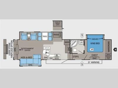 Floorplan - 2011 Jayco Pinnacle 36RETS