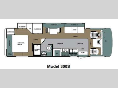 Floorplan - 2011 Forest River RV Georgetown VE 300S