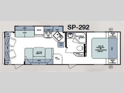 Floorplan - 2011 Forest River RV Surveyor Sport SP-292