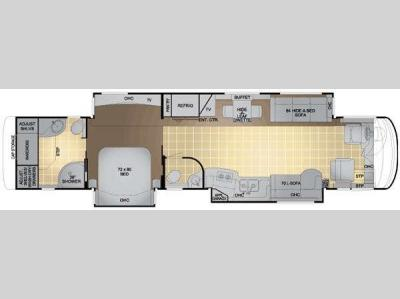 Floorplan - 2011 Newmar King Aire 4574
