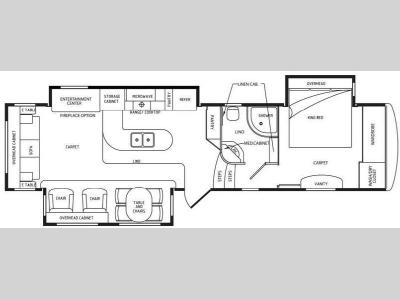 Floorplan - 2011 DRV Luxury Suites Select Suites 36 KSSB3