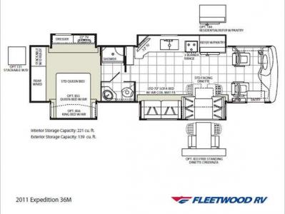 Floorplan - 2011 Fleetwood RV Expedition 36M