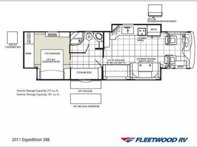 Floorplan - 2011 Fleetwood RV Expedition 38B