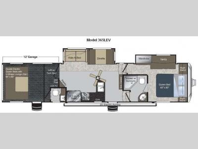 Floorplan - 2011 Keystone RV Raptor 365LEV