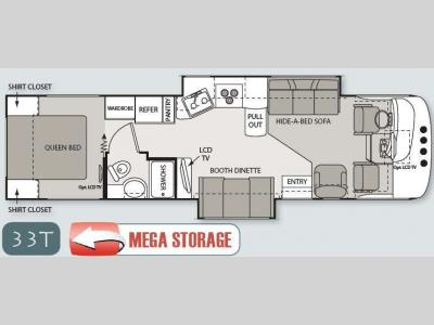 Floorplan - 2011 Thor Motor Coach Windsport 33T