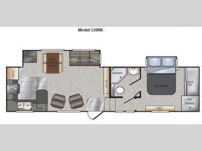 Floorplan - 2011 Keystone RV Avalanche 320RK