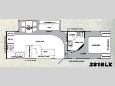 Floorplan - 2011 Forest River RV Wildcat extraLite 281RLX