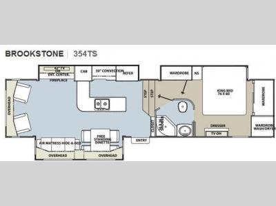 Floorplan - 2011 Coachmen RV Brookstone 354TS