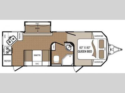 Floorplan - 2011 Dutchmen RV Komfort 2410RK