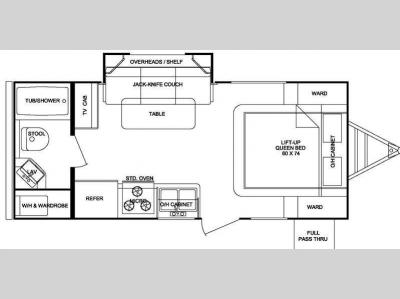 Floorplan - 2011 Cruiser Shadow S-195WBS