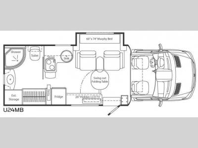 Floorplan - 2011 Leisure Travel Unity U24MB