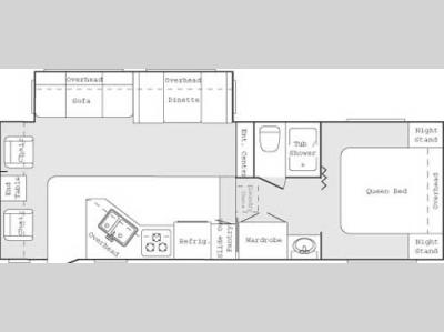 Floorplan - 2004 Keystone RV Cougar 276 EFS