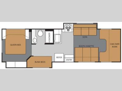 Floorplan - 2011 Thor Motor Coach Four Winds 31A
