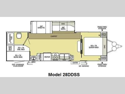 Floorplan - 2011 Forest River RV Salem 28DDSS