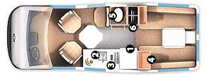 Floorplan - 2006 Roadtrek - 210 Popular 210-Popular
