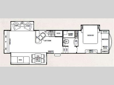 Floorplan - 2011 Forest River RV Cedar Creek 34R