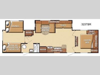 Floorplan - 2012 Gulf Stream RV Conquest 323TBR