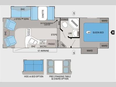 Floorplan - 2011 Jayco Eagle Super Lite HT 26.5RLS