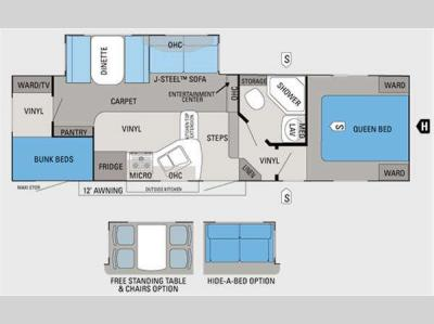 Floorplan - 2011 Jayco Eagle Super Lite HT 27.5BHS