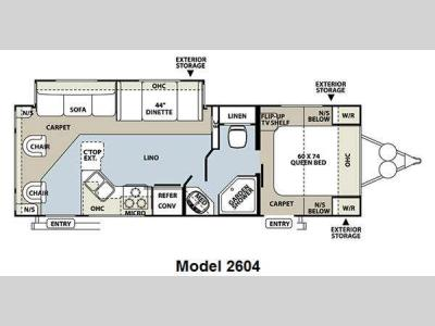 Floorplan - 2012 Forest River RV Rockwood Ultra Lite 2604