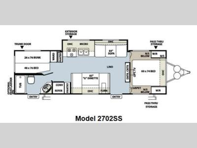 Floorplan - 2012 Forest River RV Rockwood Ultra Lite 2702SS