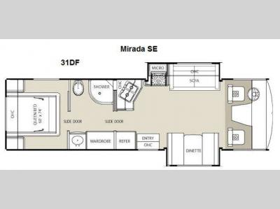 Floorplan - 2012 Coachmen RV Mirada 31DF SE