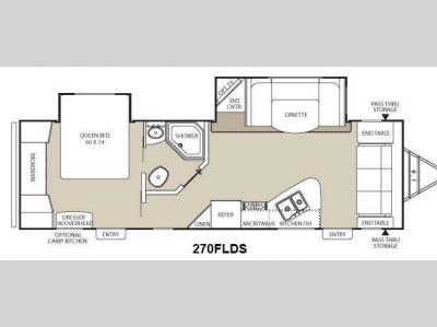 Floorplan - 2012 Coachmen RV Freedom Express 270FLDS