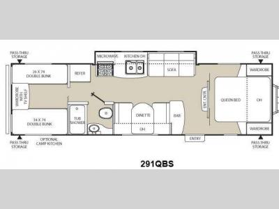 Floorplan - 2012 Coachmen RV Freedom Express 291QBS
