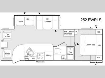 Floorplan - 2006 Keystone RV Sprinter Copper Canyon 252FWRLS