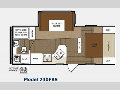 Floorplan - 2012 Prime Time Manufacturing Tracer 230FBS