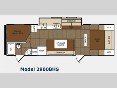 Floorplan - 2012 Prime Time Manufacturing Tracer 2900BHS