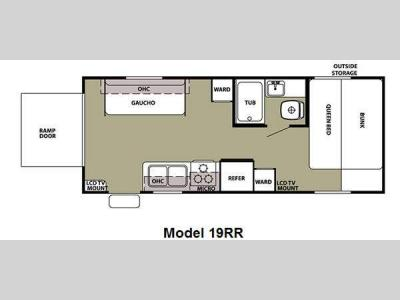 Floorplan - 2012 Forest River RV Cherokee Grey Wolf 19RR