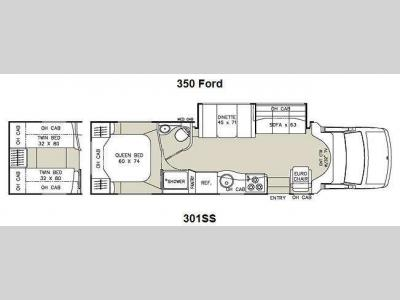 Floorplan - 2012 Coachmen RV Concord 301SS Ford