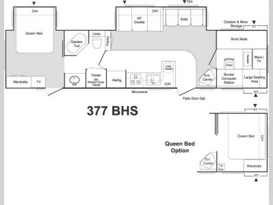 Floorplan - 2006 Keystone RV Sprinter 377BHS