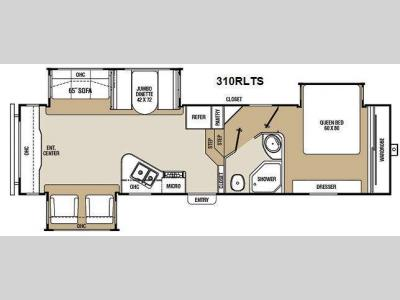 Floorplan - 2012 Coachmen RV Chaparral 310RLTS