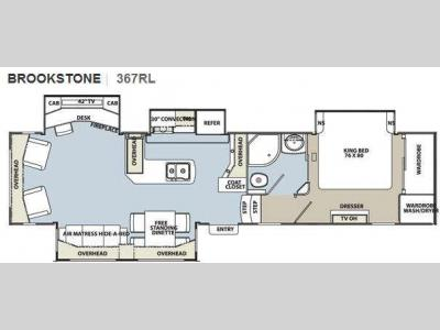 Floorplan - 2012 Coachmen RV Brookstone 367RL