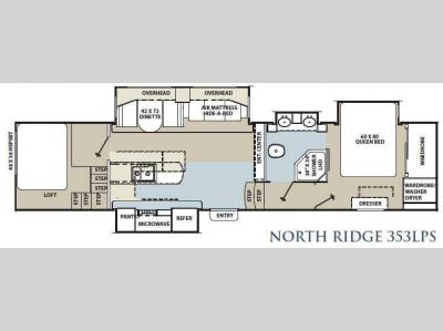 Floorplan - 2012 Coachmen RV North Ridge 353LPS