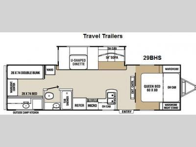 Floorplan - 2012 Coachmen RV Chaparral Lite 29BHS