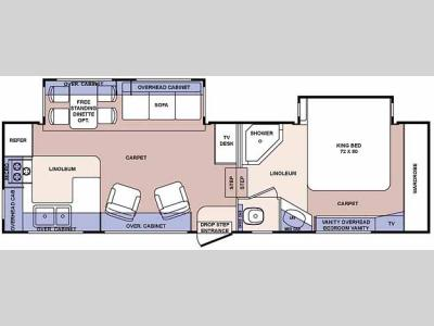Floorplan - 2006 Forest River RV Cardinal LE 29 RKLE