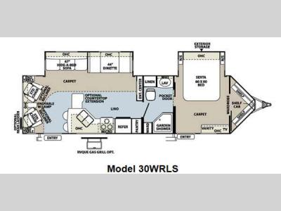 Floorplan - 2012 Forest River RV Flagstaff V-Lite 30WRLS