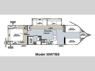 Floorplan - 2012 Forest River RV Flagstaff V-Lite 30WTBS