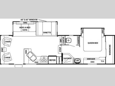 Floorplan - 2006 Forest River RV Cedar Creek Silverback 29 LRLBS