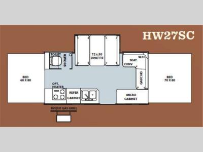 Floorplan - 2012 Forest River RV Flagstaff High Wall HW27SC