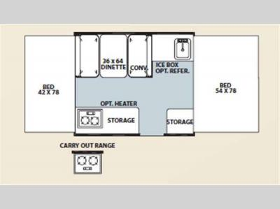 Floorplan - 2012 Forest River RV Flagstaff MAC LTD Series 176LTD