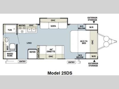 Floorplan - 2012 Forest River RV Flagstaff Micro Lite 25DS
